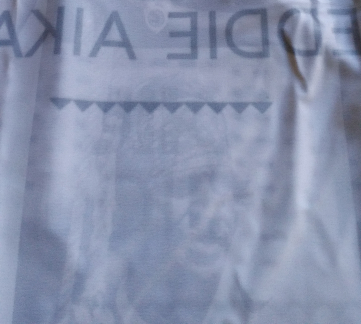 A dedication made to Eddie Aikau printed inside the Event Jersey.